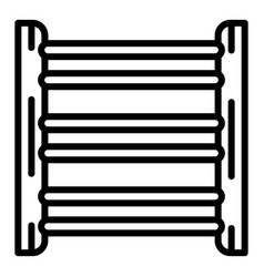 Electric heat tube icon outline style vector