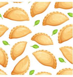 empanadas seamless pattern vector image