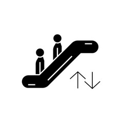 escalator black concept icon escalator vector image