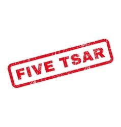 Five Tsar Text Rubber Stamp vector