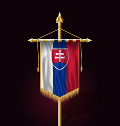 flag of slovakia festive vertical banner wall vector image