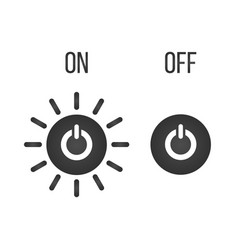 icon button on-off indicator isolated on white vector image