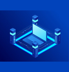 isometric protection information general data vector image