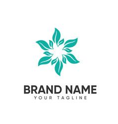 Leaf logo design concept template full color vector