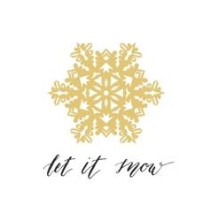Let it snow greeting card vector image