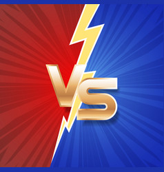 lightning strike vs letter energy conflict game vector image