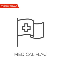 medical flag icon vector image