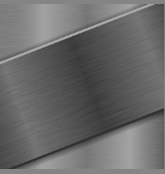 Metal background with iron brushed plate vector