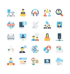 Network and communications icons 6 vector