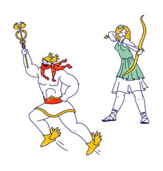 Olympic gods hermes or mercury patron trade vector