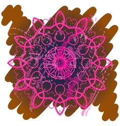 Oriental mandala motif yoga karma vector