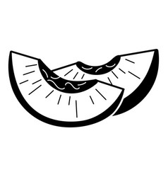 Peach slice icon simple style vector
