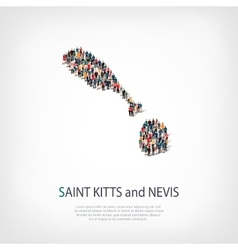people map country Saint Kitts vector image