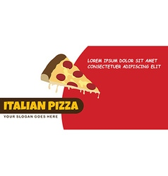 Pizza food menu banner template vector