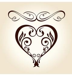 Retro ornament calligraphic curves elements vector