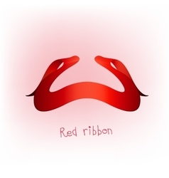 Ribbon banner red d vector image