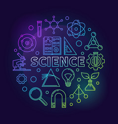 science modern round colored vector image