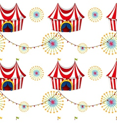 Seamless template with tents vector image