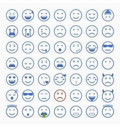 Set of Emoticons Set of Emoji Set of Avatar vector
