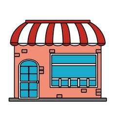 shopping store cartoon vector image