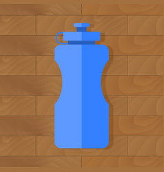 Sport bottle with water vector