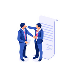 Success partnership symbol vector