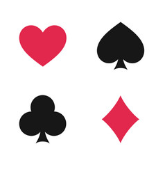 suit playing cards isolated vector image