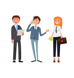 Team of corporate business workers in formal wear vector