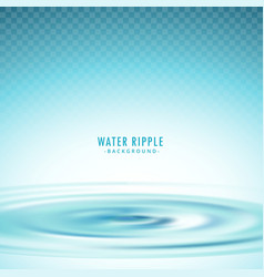 Transparent water ripple background vector