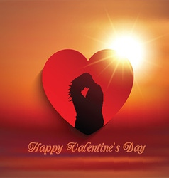 valentines day couple background 0601 vector image