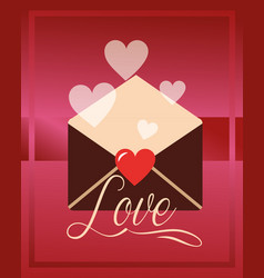 valentines day love card vector image
