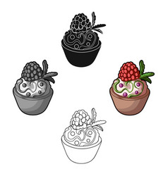 vegetarian dessert for vegetarians ice cream in a vector image