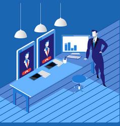 videoconferencing concept in vector image