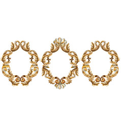 Vintage baroque frame decor detailed 3d realistic vector