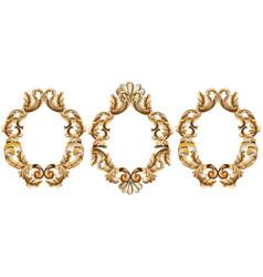 Vintage baroque frame decor detailed 3d realistic vector