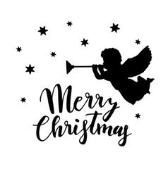 Vintage christmas greeting card invitation vector