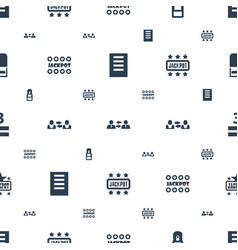 Word icons pattern seamless white background vector