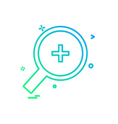 zoom icon design vector image