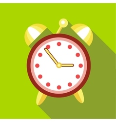 Alarm clock icon flat style vector image