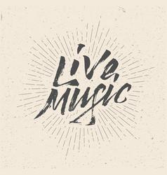 live music sign badge logo poster flyer vector image