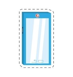 smart phone device technology mobile vector image