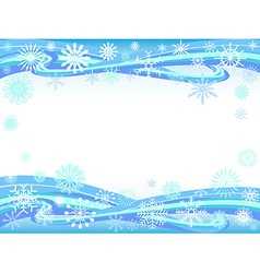 snowflakes curve background vector image vector image