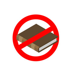 Ban education stop read it is forbidden to vector