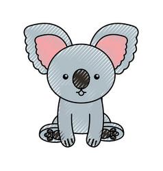 Cute scribble koala cartoon vector