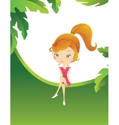 Girl in the tropics vector image vector image