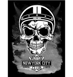 Vintage motorcycle new york typography vector