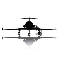Aircraft silhouette vector image vector image