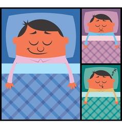 Sleeping vector image vector image