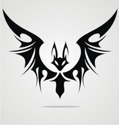 Bat Tattoo Design vector image vector image