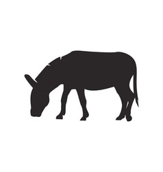 Donkey silhouette vector image